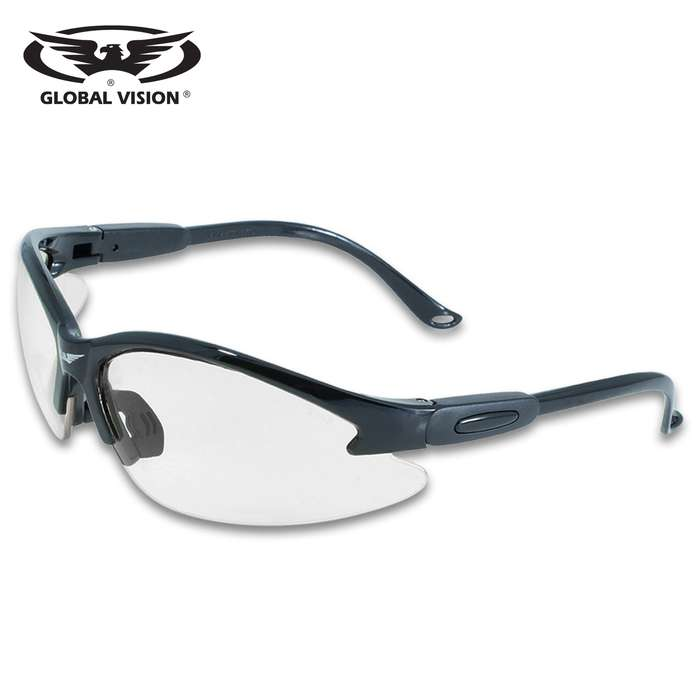 Our Global Vision Cougar Clear Safety Sunglasses offer a UV400 filter for maximum UV protection