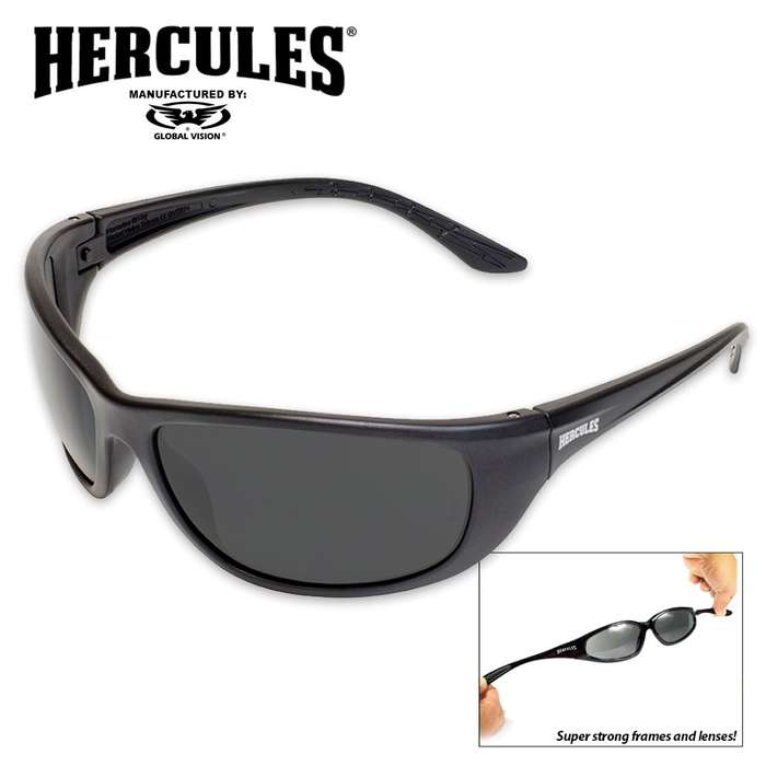 Global Vision Military Ballistic Safety Sunglasses - Smoke
