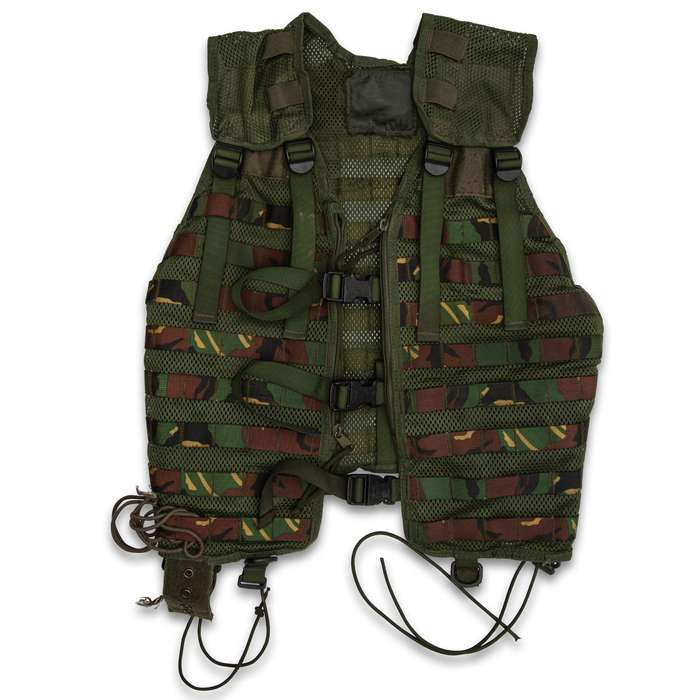 With its highly organized MOLLE design, the military surplus Dutch Modular Vest makes a great addition to your gear