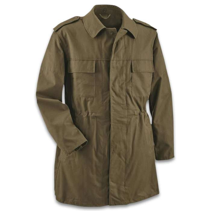 The perfect blend of tough military outerwear and style, which makes it ideal for working outside but also nice enough for church