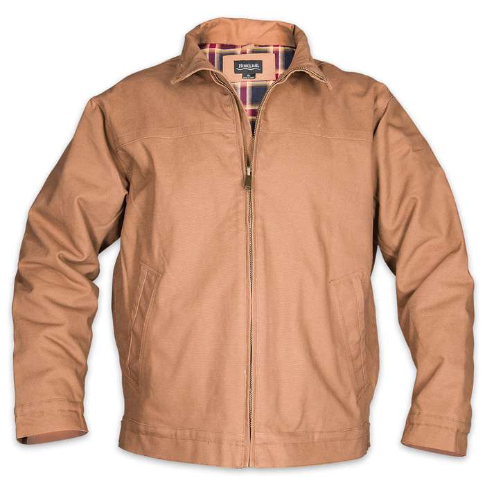 Concealed Carry Khaki Cotton Canvas Ranch Jacket