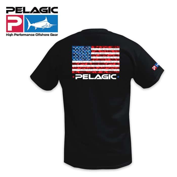 Pelagic American Camo Black Tee