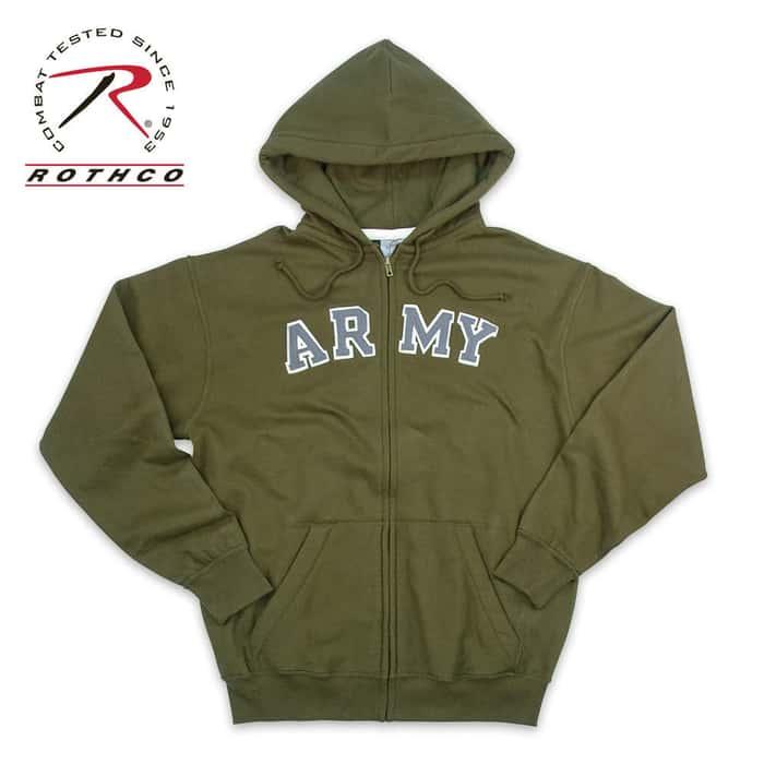Vintage Army Zipper Sweatshirt OD