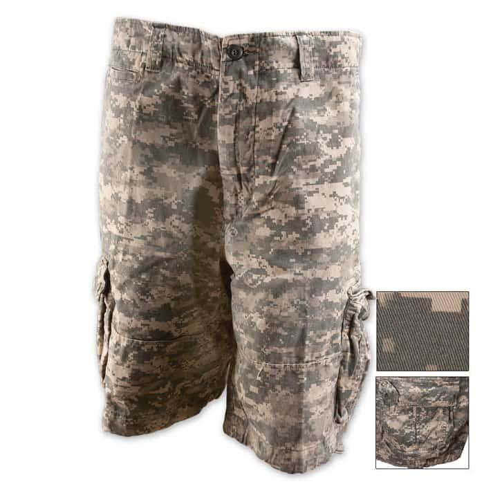 Vintage Infantry Utility Shorts Army Digital Camo