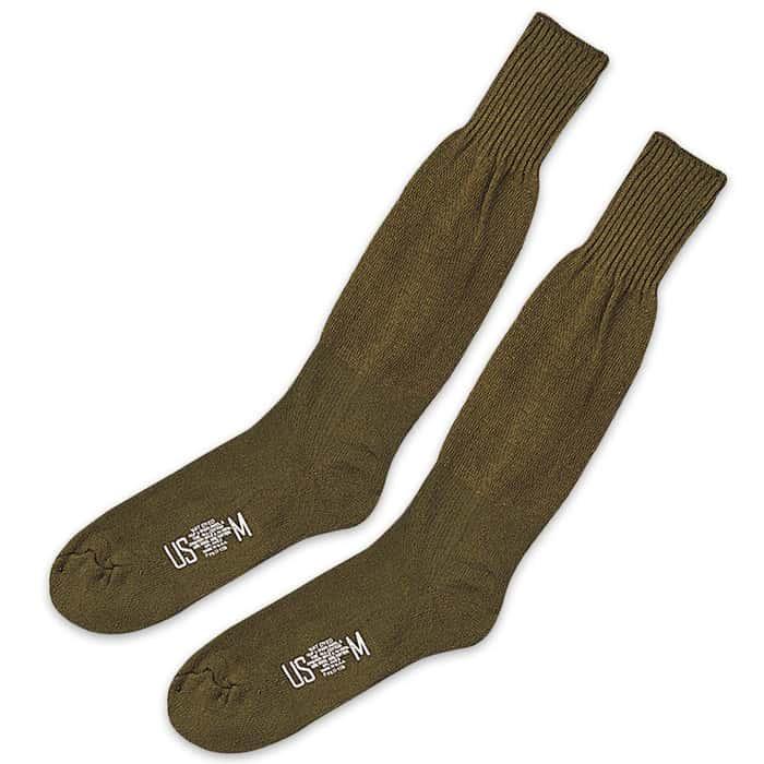 GI Type Cushion Wool Blend Sole Socks OD