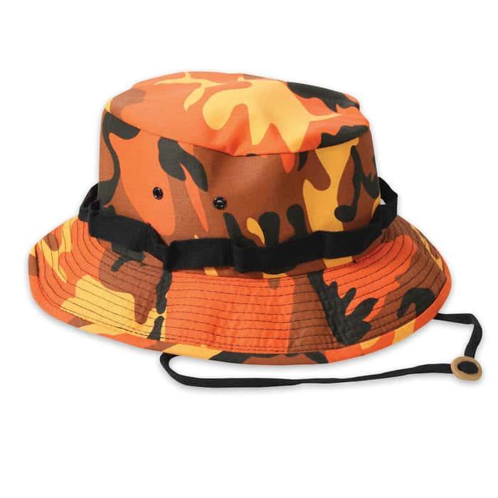 Boonie Hat Savage Orange Camo