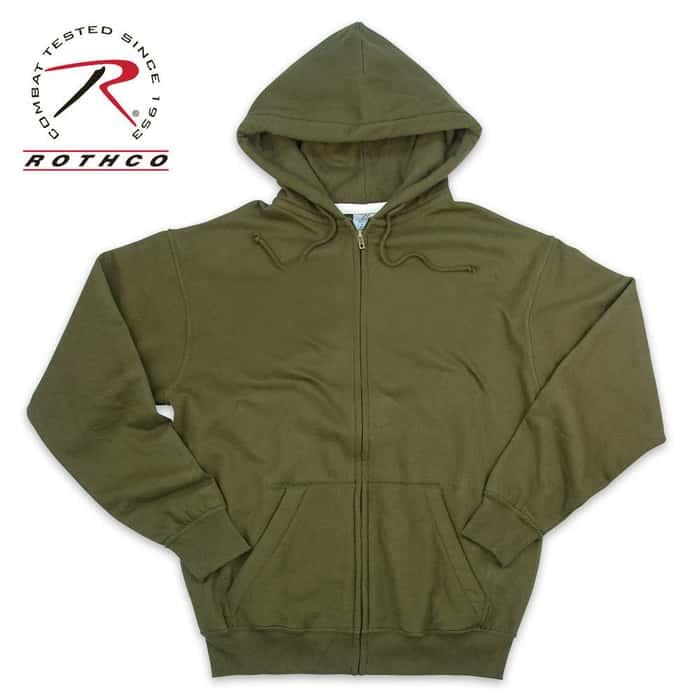 Thermal Lined Zipper Sweatshirt OD