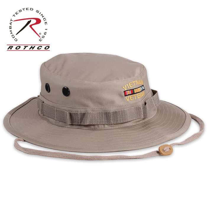 Rothco Vietnam Veteran Boonie Hat Khaki