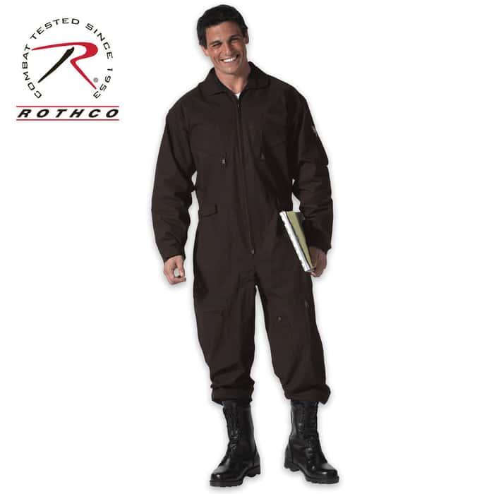 Air Force Style Flight Suit Black