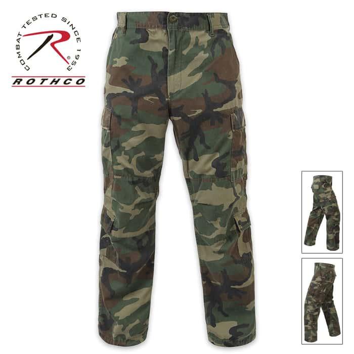 Vintage Paratrooper Fatigue Pants Camo