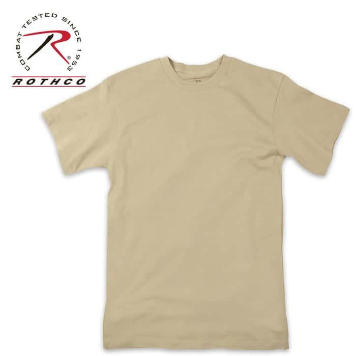 Moisture Wicking Short Sleeve T-Shirt Sand