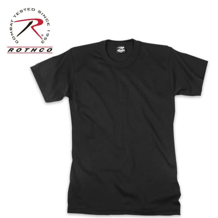 Moisture Wicking Short Sleeve T-Shirt Black