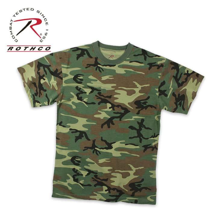Woodland Camo Moisture Wicking T-Shirt