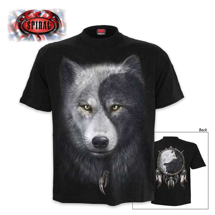 Black Wolf Chi Wrap - Allover T-Shirt