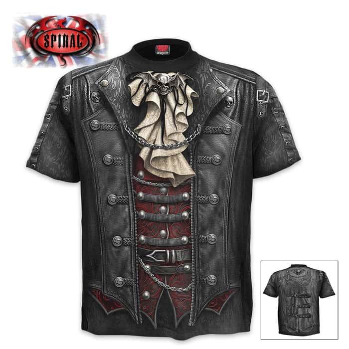 Black Goth Wrap - Allover T-Shirt