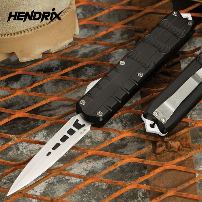 Add a sleek and compact OTF automatic to your rotation with the Hendrix Triton OTF Dagger from Viper-Tec Knives