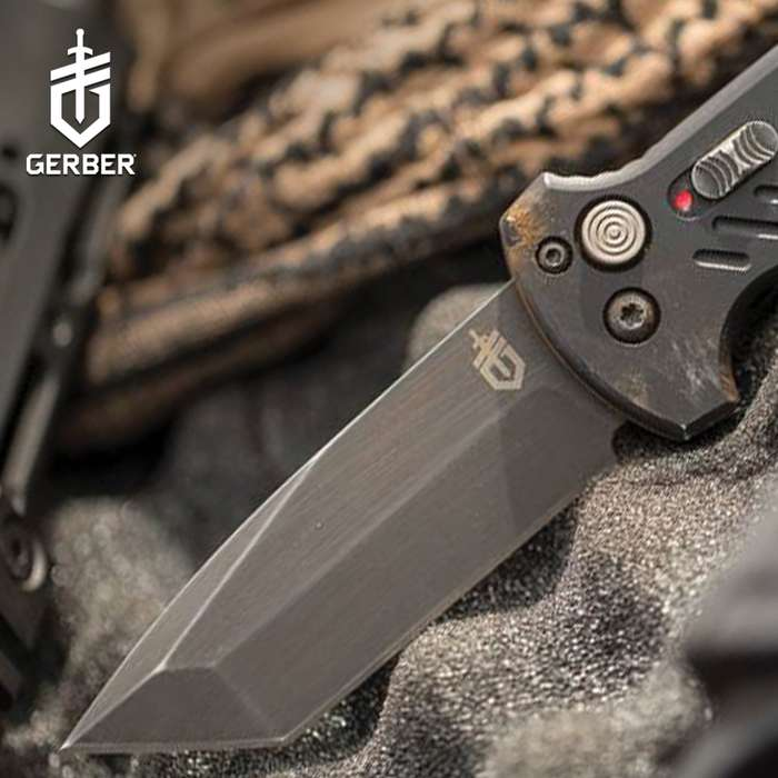 Fully-automatic and ready for anything, the Gerber 06 Auto Tanto Point Pocket knife has a premium design that sets it apart