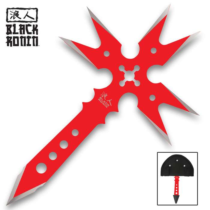 Take your throwing skills to the next level with the Black Ronin Fantasy Gothic Red Throwing Axe