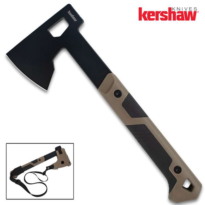 Mankind's been using the ax to shape, split, and cut wood for millennia and the Kershaw Dechutes Camp Axe is an update on that trusty tool