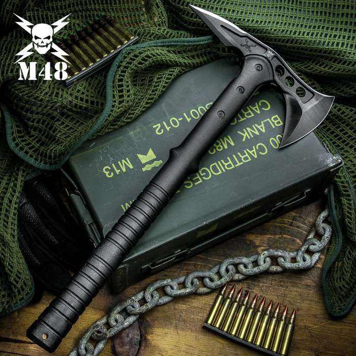 M48 Tactical Tomahawk Axe With Snap On M48 Sheath - Hawk Axe