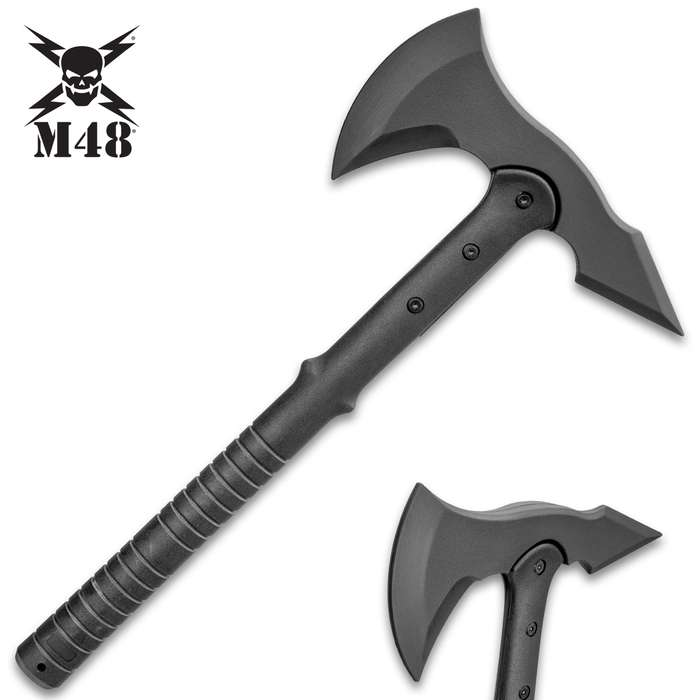 M48 Tomahawk Training Weapon - Solid Polypropylene Construction, Heavy-Duty Bolts, Lanyard Hole - Length 16""