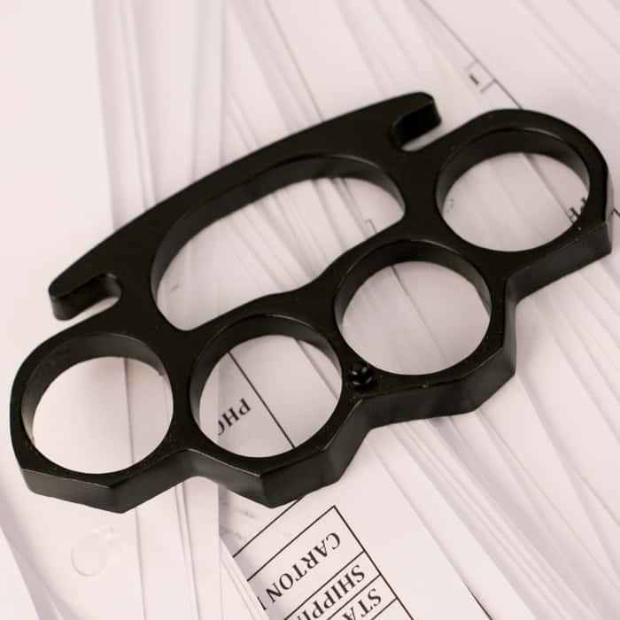 Black Brass Knuckles - Knuckleduster