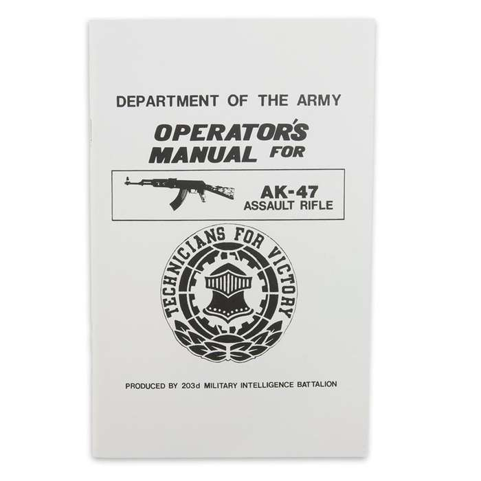 Operators AK-47 Assault Rifle Manual