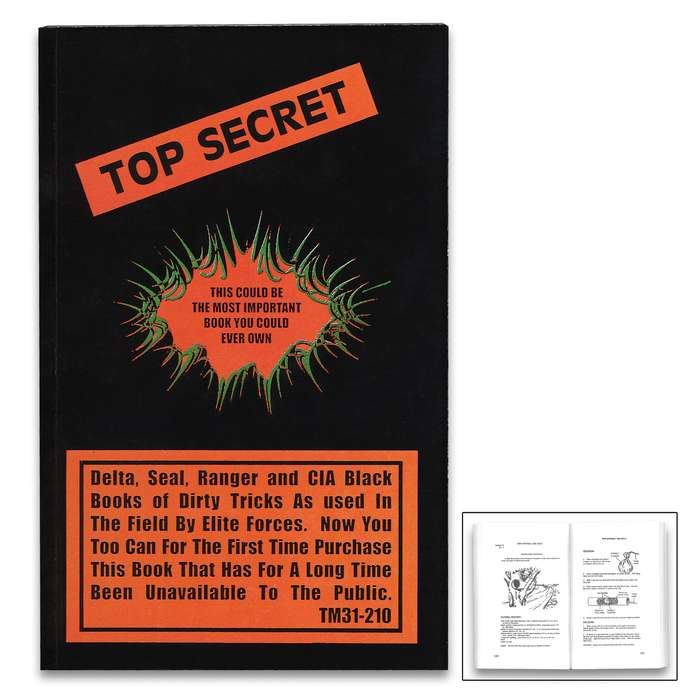 """Top Secret Manual - Fully Illustrated, Information Used By Elite Forces, More Than 250 Pages - Dimensions 8 1/2""""x 5 1/4"""""""