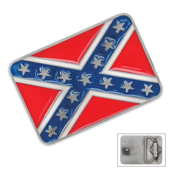 Confederate Flag Belt Buckle