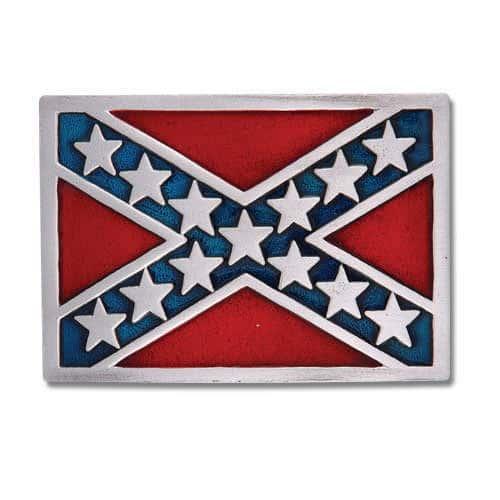 Rebel Flag Belt Buckle