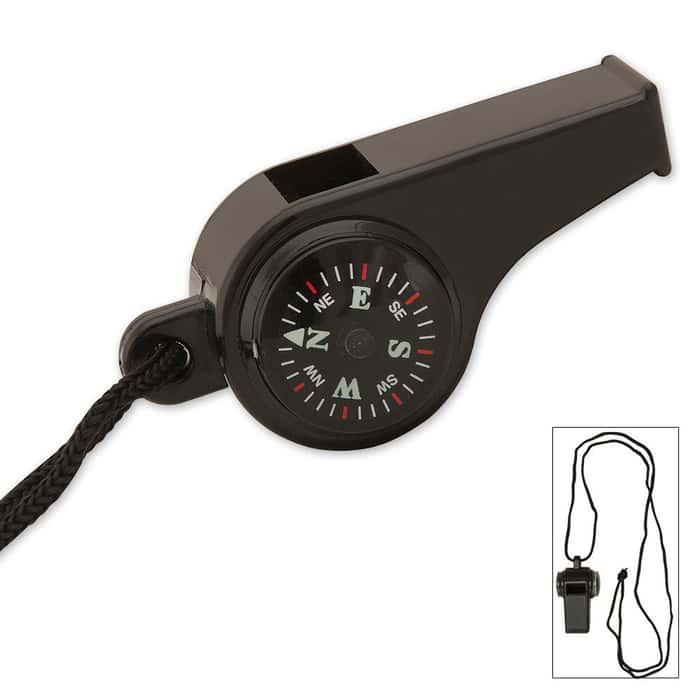 Black Super Survival Whistle