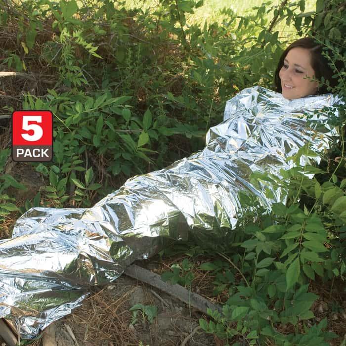 Emergency Survival Sleeping Blanket - Five Pack