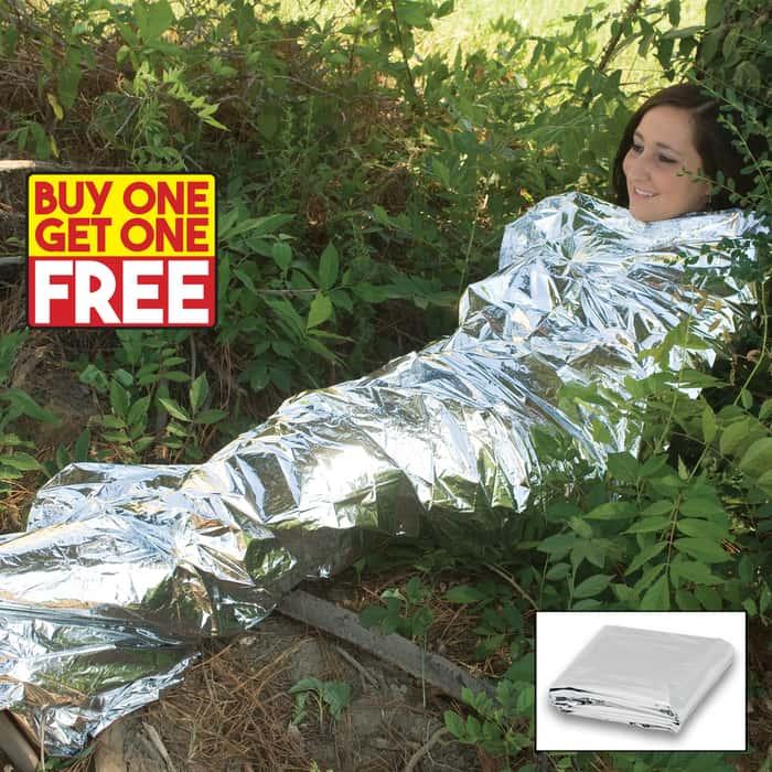 Emergency Survival Sleeping Blanket - BOGO