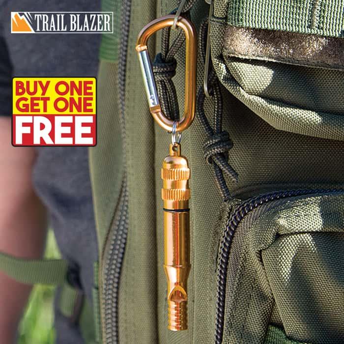 Trailblazer Emergency Whistle With Carabiner - BOGO