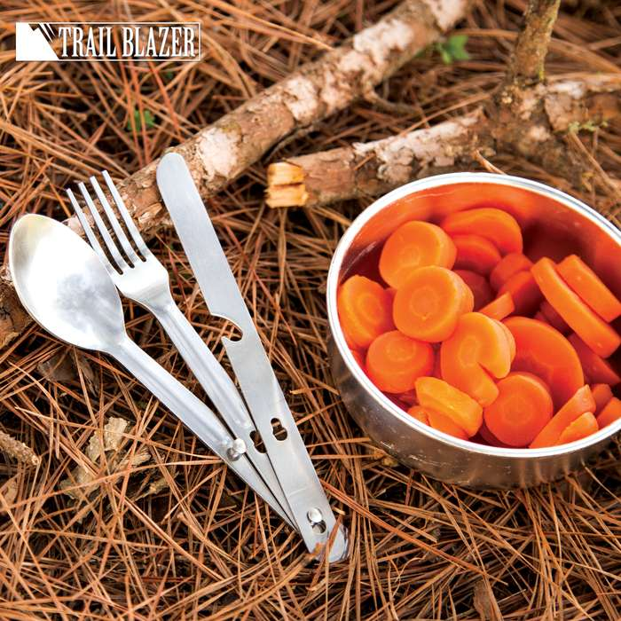 Trailblazer 3-Piece Camping Utensil Set