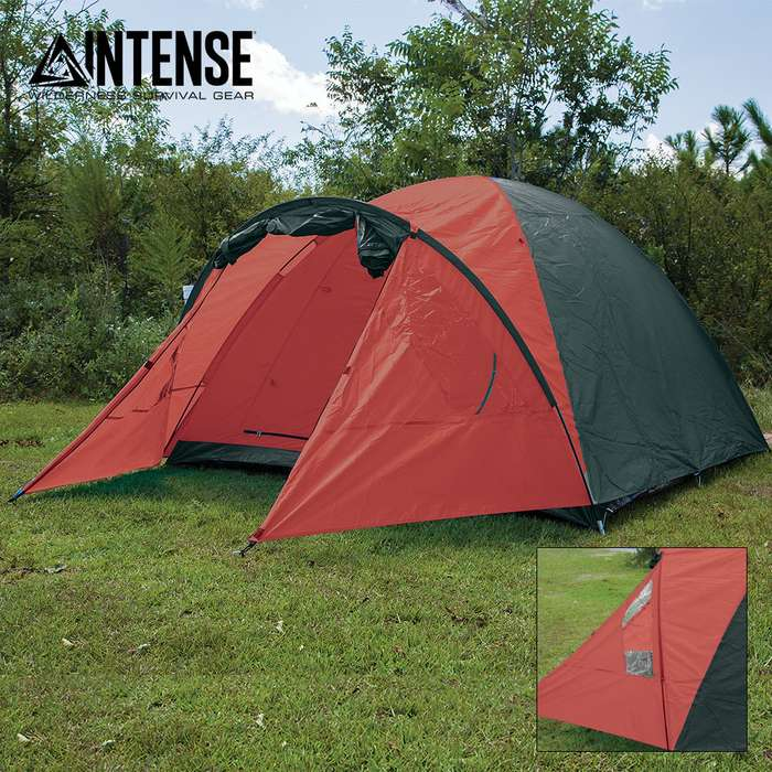 Intense 4-Person Dome Tent with Porch