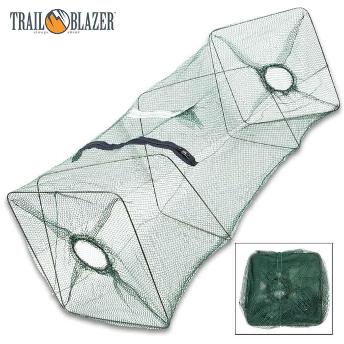Trailblazer Collapsible Live Fishing Bait Trap - Large