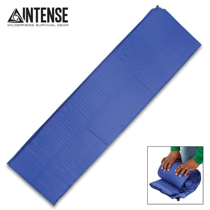 """Intense Self-Inflating Air Mat With Carry Bag - Polyester Outer, Polyurethane Filling, Lightweight - Dimensions 72""""x 22"""""""