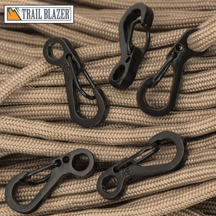 Perfect for key rings, keychains, parachute cord, umbrella rope, flashlights, attaching a compass, whistle, and other outdoor EDC items