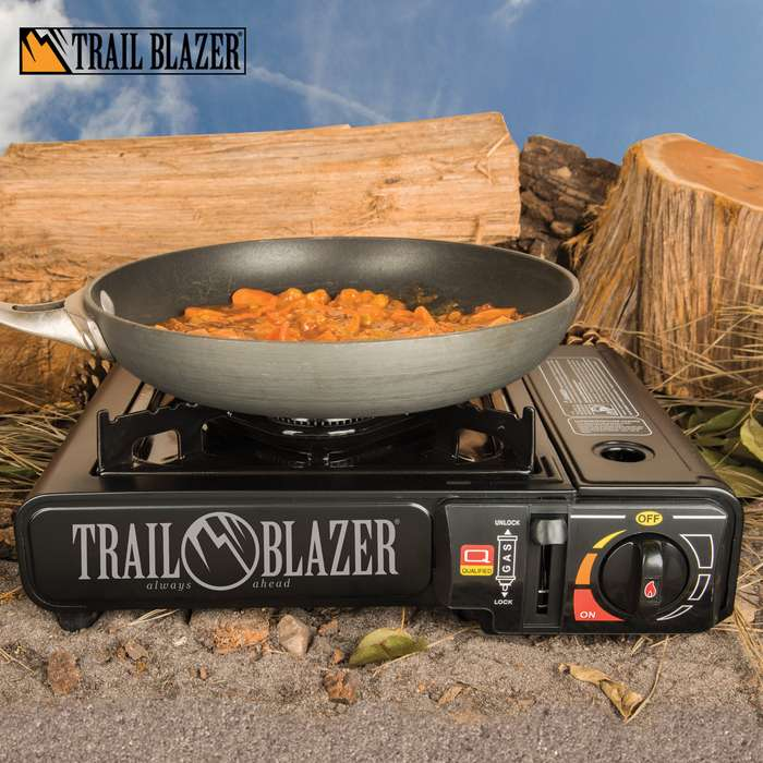 The portable and convenient, single burner propane stove works great for camping, catering, BBQ's, and other off-site cooking