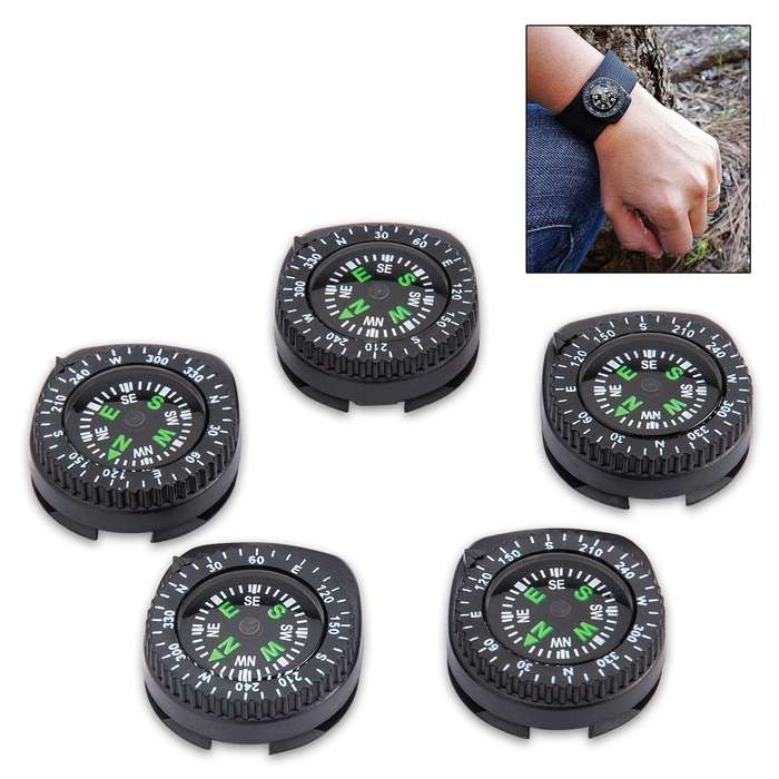 The Trailblazer Wrist Band Compass will assure that you know the direction that you're heading anywhere you go