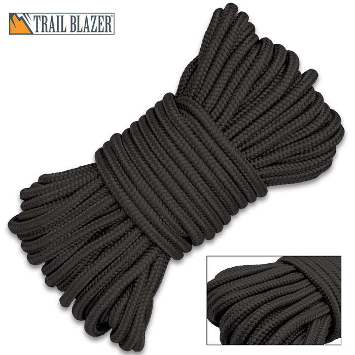 Easier to work with than natural fiber ropes, this rope is excellent to use around the house, on a boat or when camping