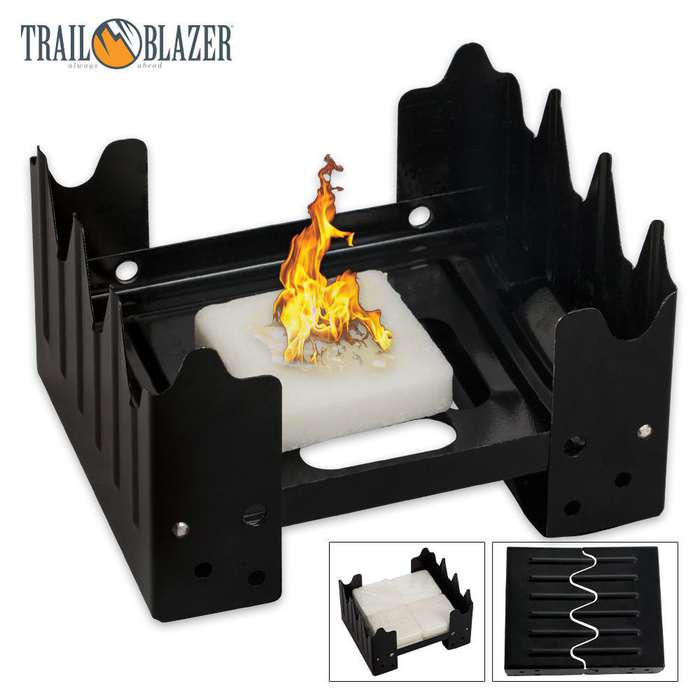 Trailblazer Folding Pocket Stove With Eight Wax Fuel Cubes