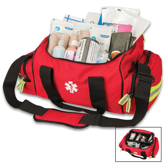 The First Responder Bag is a spacious bag with an extremely nice and thorough set of first aid equipment