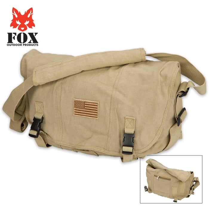 Fox Outdoor Products Retro Courier Shoulder Bag