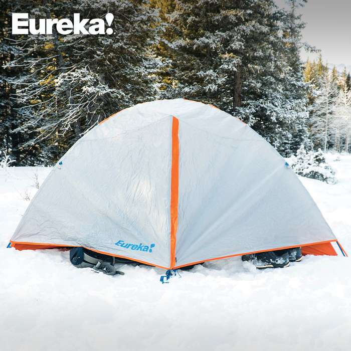 Mountain Pass Two-Person Four-Season Tent - Lightweight Aluminum Frame, Removable Side Panels, Air Exchange Venting