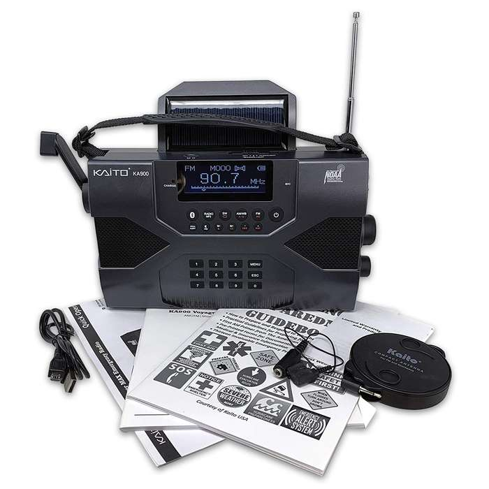 The Voyager Max Radio is a digital, portable receiver designed for everyday use and emergency preparedness applications