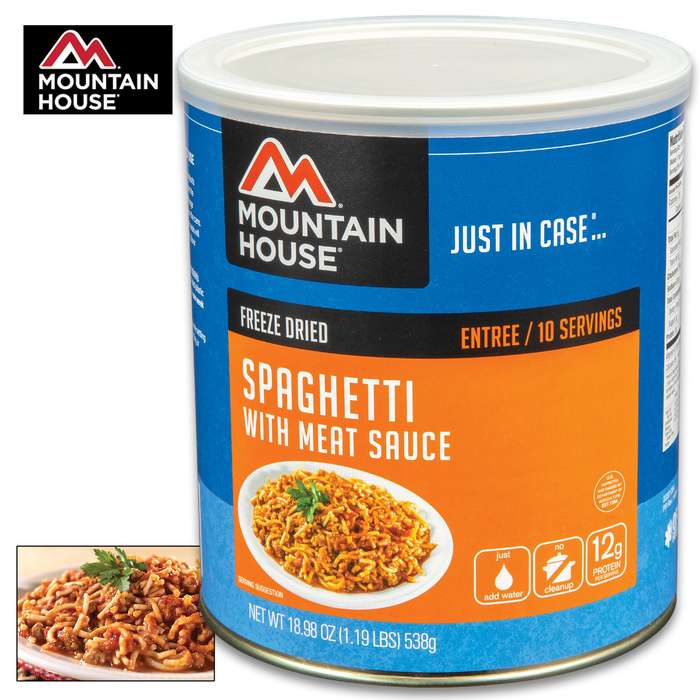 Mountain House Spaghetti With Meat Sauce Can 10 Servings