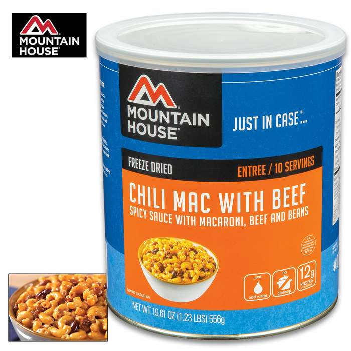 Mountain House Chili Mac With Beef Can 10 Servings