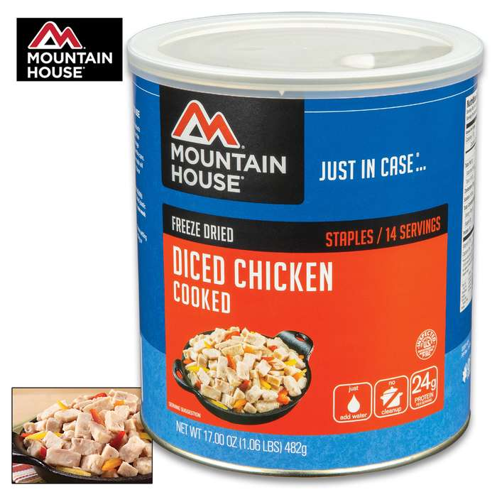 Mountain House Diced Chicken Can 14 Servings